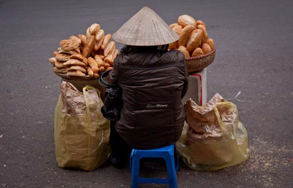 Vietnam, bread seller