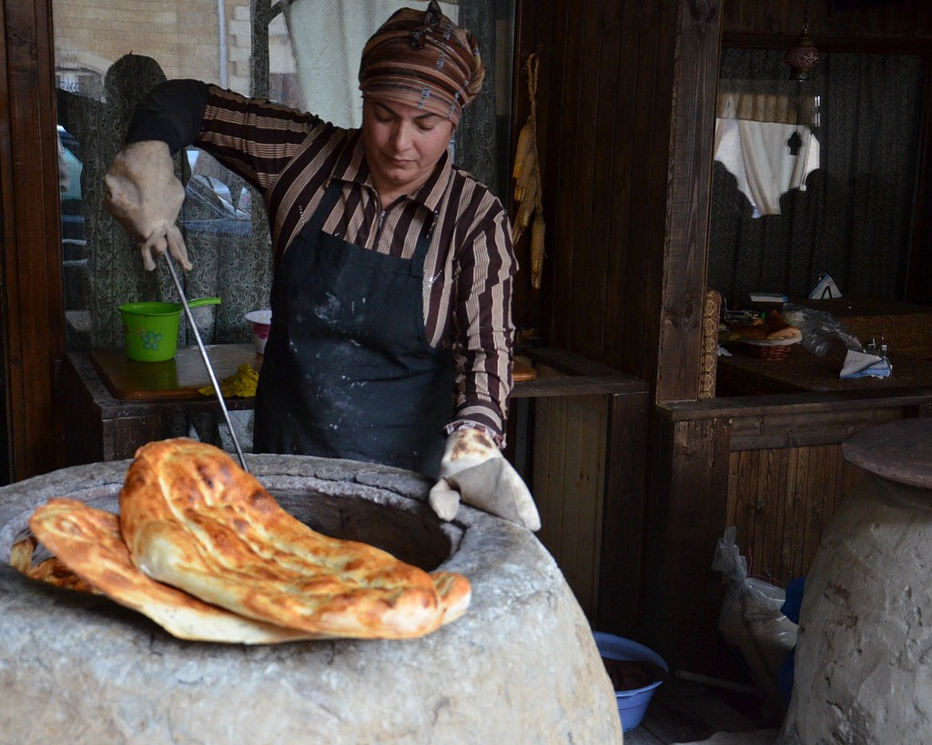 Azerbaijan bread in Baku