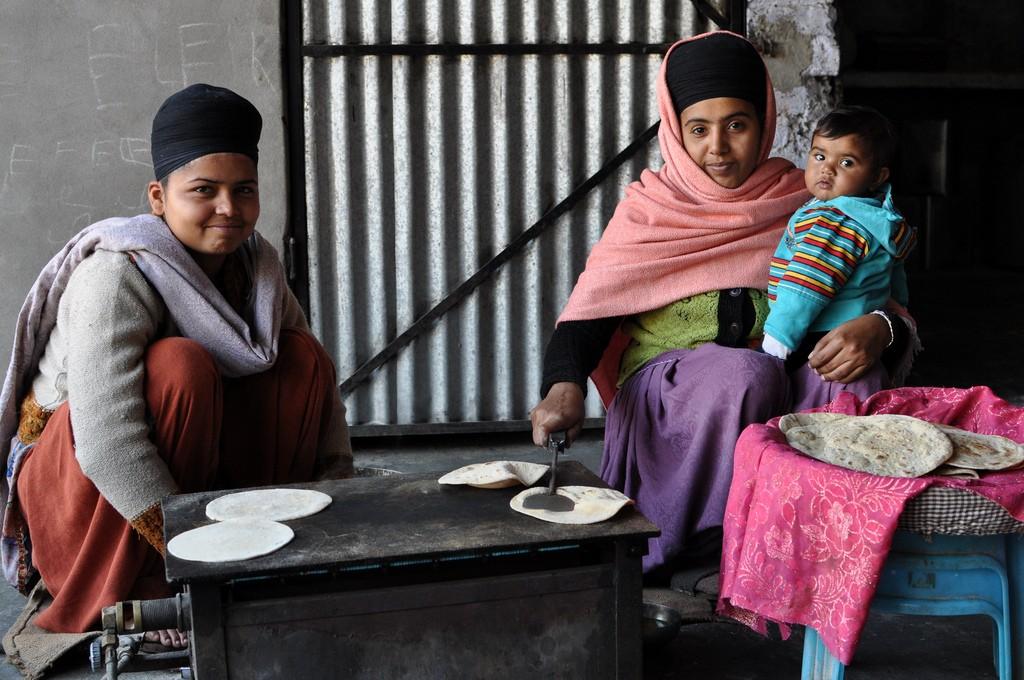India, roti, Sikhs