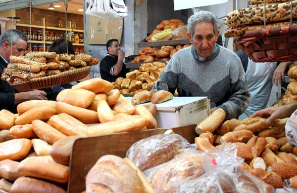 Israel, bread in the market