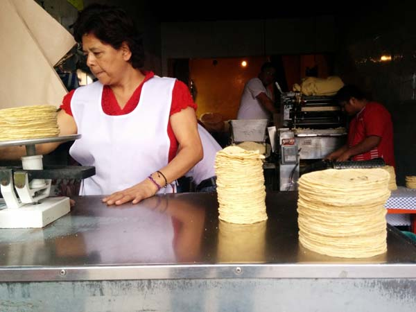 Mexico, Tortillas by weight