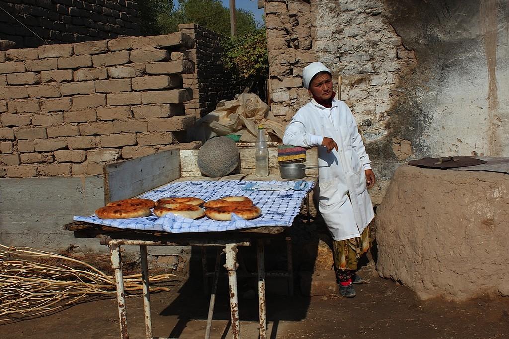 Tajikistan, bread-seller